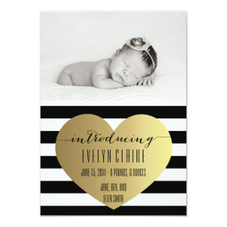 Photo Birth Announcement - Baby Girl