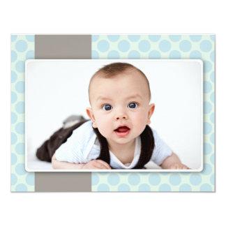 """{photo} birth announcement 4.25"""" x 5.5"""" invitation card"""