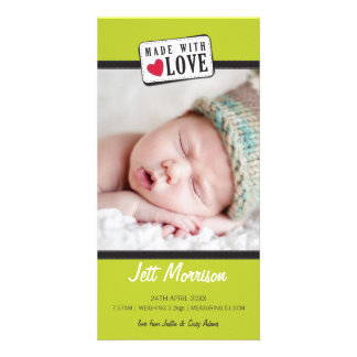 PHOTO BIRTH ANNOUNCEMENT :: made with love 1 Picture Card