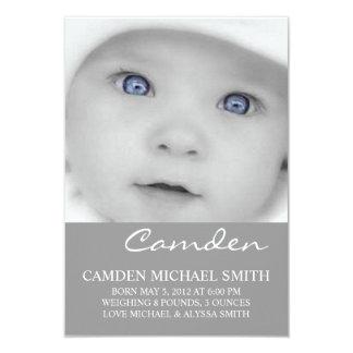 Photo Birth Announcement | Names