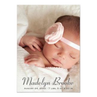 Photo Birth Announcement | Script + Polka Dots
