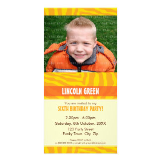 PHOTO BIRTHDAY INVITATIONS :: animal print 4