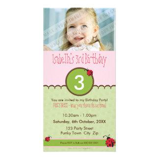 PHOTO BIRTHDAY INVITATIONS :: ladybird 4P Custom Photo Card