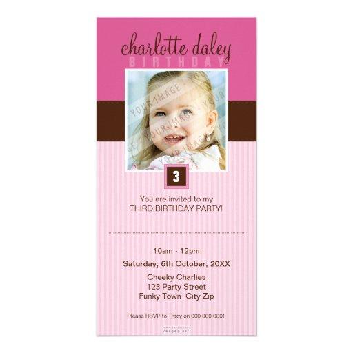 PHOTO BIRTHDAY INVITATIONS :: lovely square 5 Photo Greeting Card