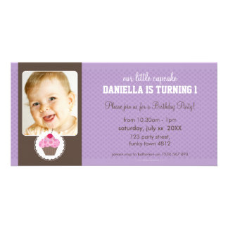 PHOTO BIRTHDAY PARTY INVITE :: cupcake 5L Picture Card