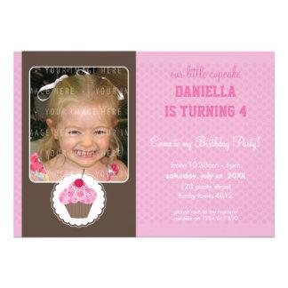 PHOTO BIRTHDAY PARTY INVITES cupcake 3L