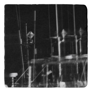 photo black and white trivet