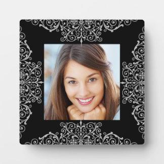 Photo Black White Lace Ornate Plaques
