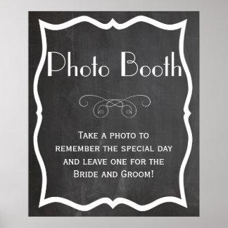 Photo Booth Chalkboard Wedding Sign