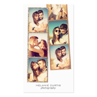 Photo Booth Film Strips Photography Business Card