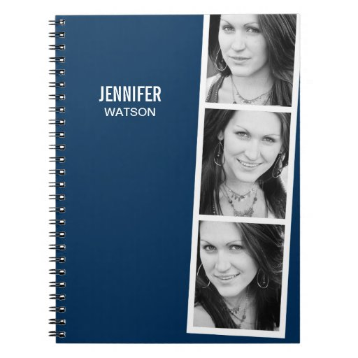 Photo Booth Personalized Notebook Spiral Note Books