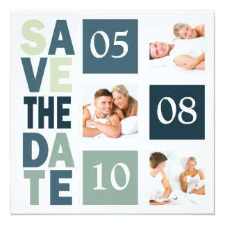 Photo Booth Save The Dates Custom Template 13 Cm X 13 Cm Square Invitation Card