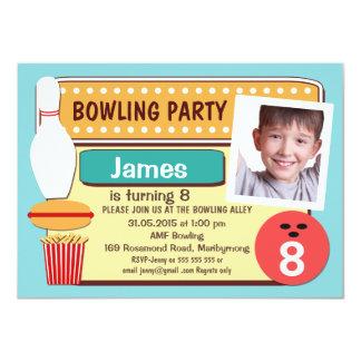 Photo Bowling Birthday Party Invitation