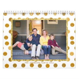 Photo Calendar Golden Dots
