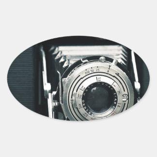 Photo Camera Oval Sticker