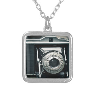 Photo Camera Silver Plated Necklace