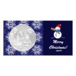 Photo Card - Christmas Snowman Football