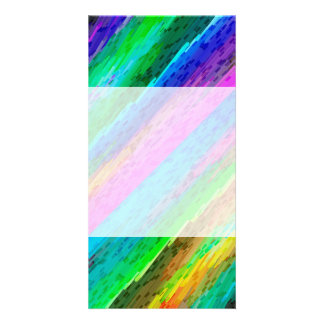 Photo Card Colorful digital art splashing G478