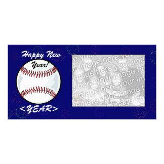 Photo Card - New Year Baseball