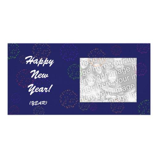 Photo Card - New Year Fireworks
