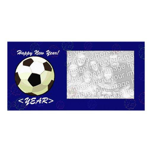 Photo Card - New Year Soccerball