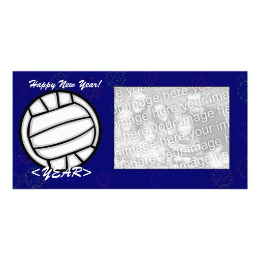 Photo Card - New Year Volleyball