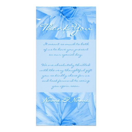 Photo cards template - customizable blue lillies