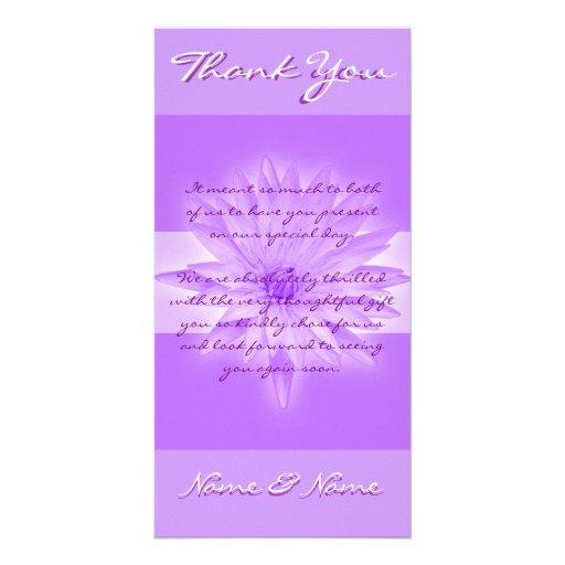 Photo cards template - customizable lillies