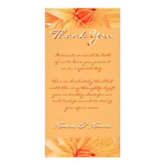 Photo cards template - customizable orange lillies