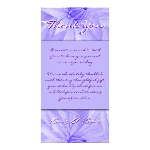 Photo cards template - customizable purple lillies