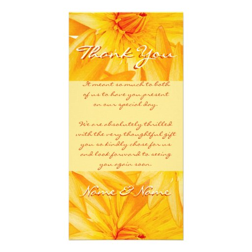 Photo cards template - customizable yellow lillies
