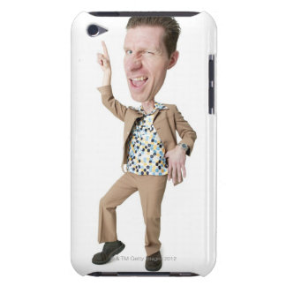 photo caricature of a desperate caucasian man in barely there iPod cover