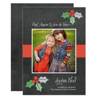 Photo Cartes de Noël | Paix Amour et Joie Card