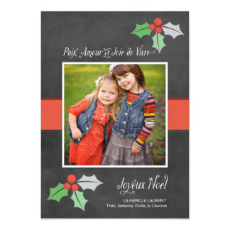 Photo Cartes de Noël | Paix Amour et Joie Card