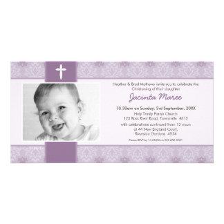 PHOTO CHRISTENING INVITATIONS :: pretty 5L