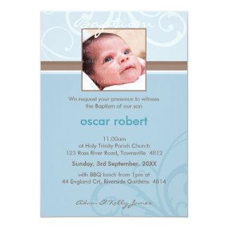 "PHOTO CHRISTENING INVITES :: charity 6P 5"" X 7"" Invitation Card"