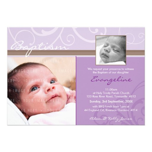 PHOTO CHRISTENING INVITES :: charity 7L