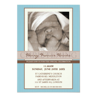 PHOTO CHRISTENING INVITES :: elegance 8P
