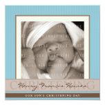 PHOTO CHRISTENING INVITES :: elegance 8SQ 13 Cm X 13 Cm Square Invitation Card