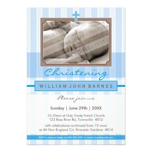 PHOTO CHRISTENING INVITES :: stylishly 4P