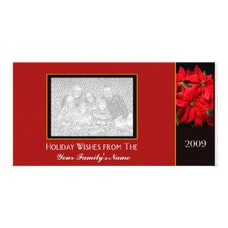 Photo Christmas Card Template Customized Photo Card