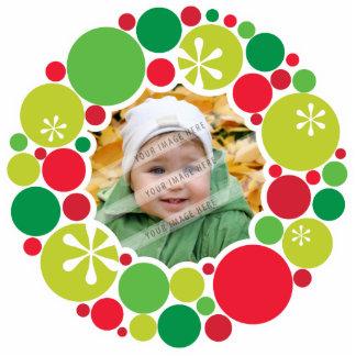 PHOTO CHRISTMAS DECORATION bauble wreath 2 Cut Out