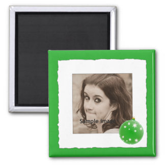 Photo Christmas Holiday | Custom Personalized Square Magnet