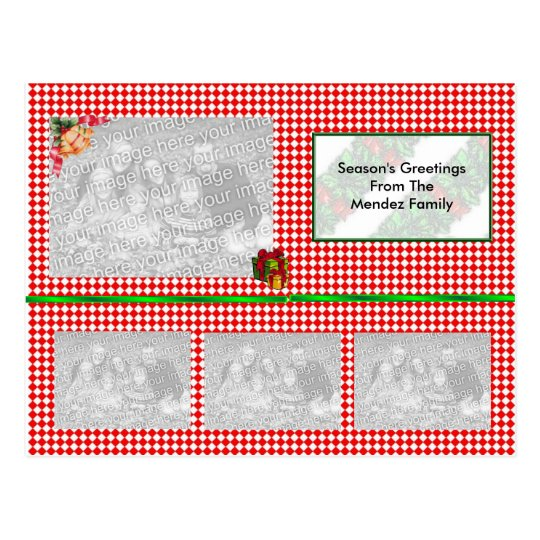Photo Christmas Post Card (TEMPLATE)