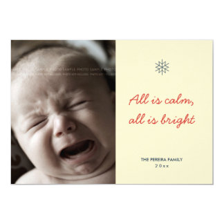 Photo Christmas Silent Night Modern Holiday Custom 13 Cm X 18 Cm Invitation Card