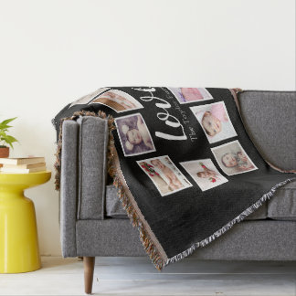 Photo Collage 10 photo Personalised One of a Kind Throw Blanket