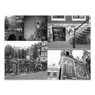Photo collage Amsterdam 4 in black and white