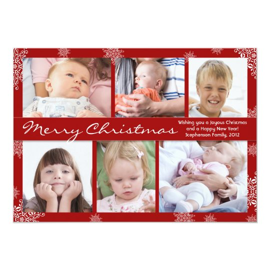 photo Collage beautiful Holiday Cards