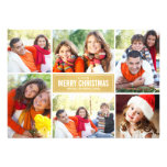 Photo Collage Christmas Card | Gold Chevron Invitations