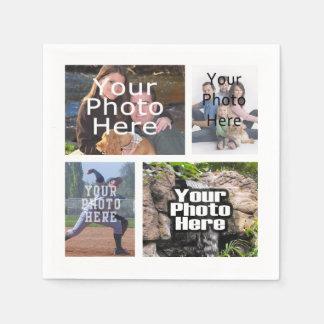 Photo Collage Custom Digital Picture Paper Serviettes